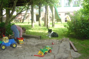 Sandkasten-Spielplatz